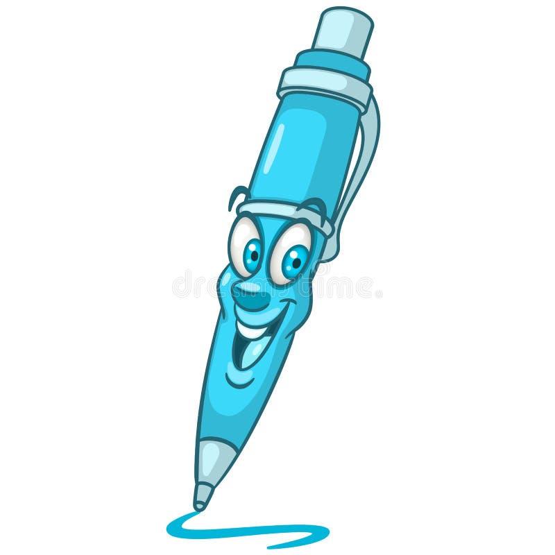 Pena de ponto de bola dos desenhos animados ilustração stock