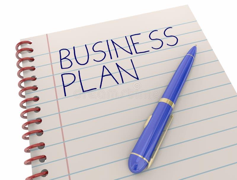 Pena do bloco de notas da estratégia de Novo Empresa do plano de negócios ilustração royalty free