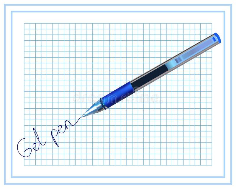 Pena do gel stationery ilustração stock