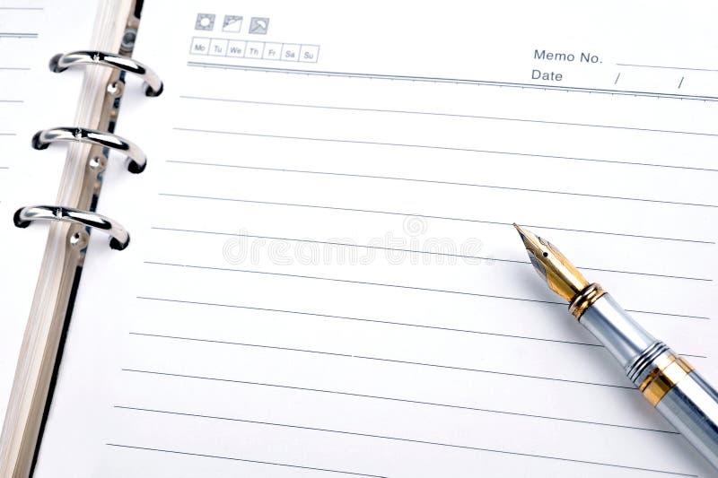Download Pena e bloco de notas foto de stock. Imagem de caderno - 12803470