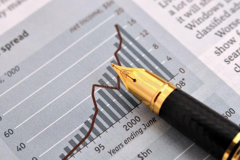 Pena E Carta De Fonte Imagem de Stock