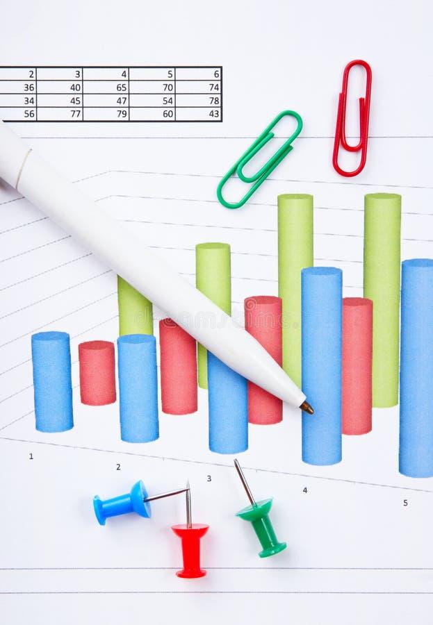 pena e diagrama imagem de stock