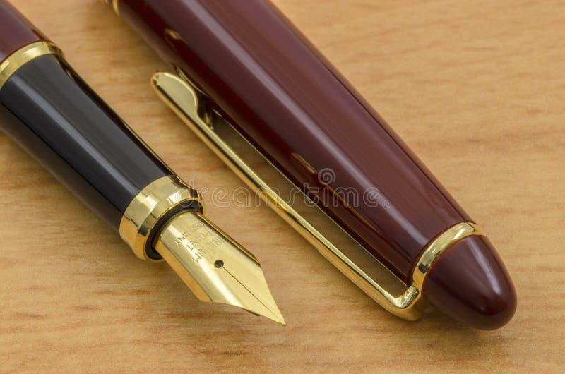A pena e o lápis de fonte ajustaram 04 fotografia de stock royalty free