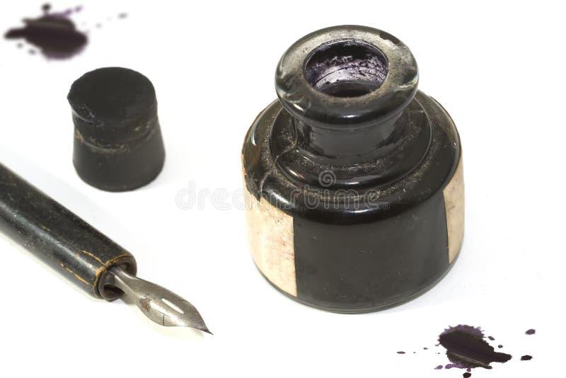 Pena e tinta 2 fotografia de stock