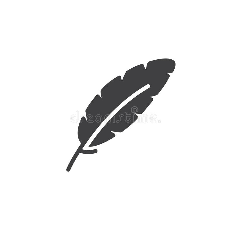 A pena, escreve o vetor do ícone ilustração stock