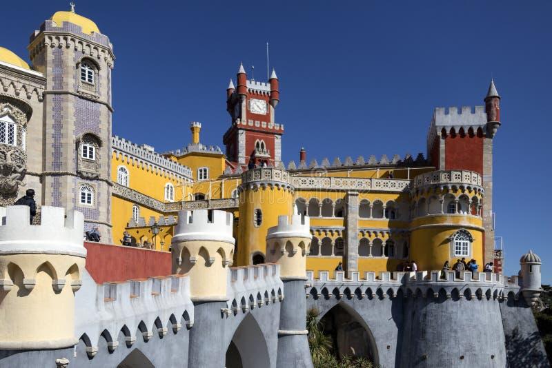 Pena Krajowy pałac - Sintra blisko Lisbon, Portugalia - zdjęcie stock