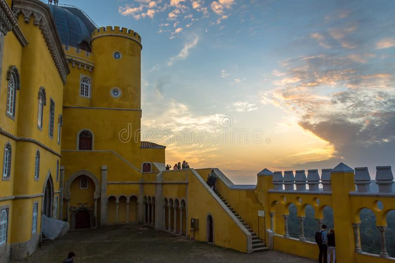 Pena Krajowy pałac w Sintra, Portugalia (Palacio Nacional da Pena zdjęcia stock