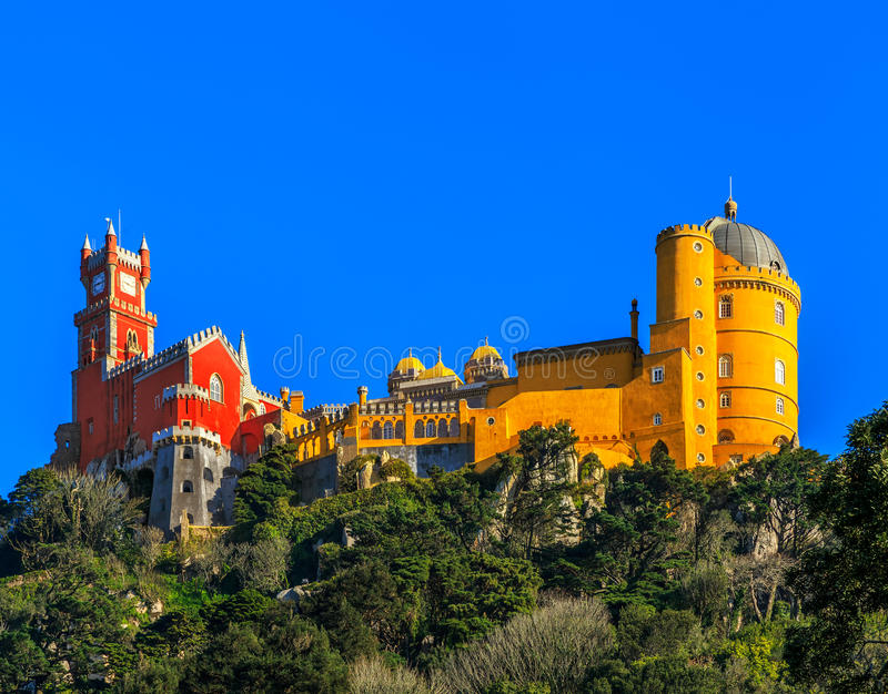Pena Nationaal Paleis, Sintra, Lissabon, Portugal royalty-vrije stock afbeelding