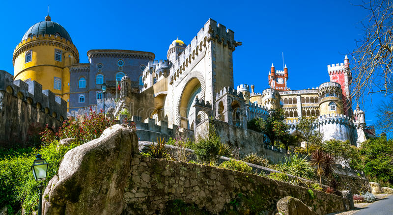 The Pena National Palace stock photography