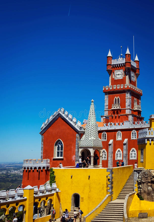 Download Pena National Palace In Portugal Stock Image - Image: 83723695