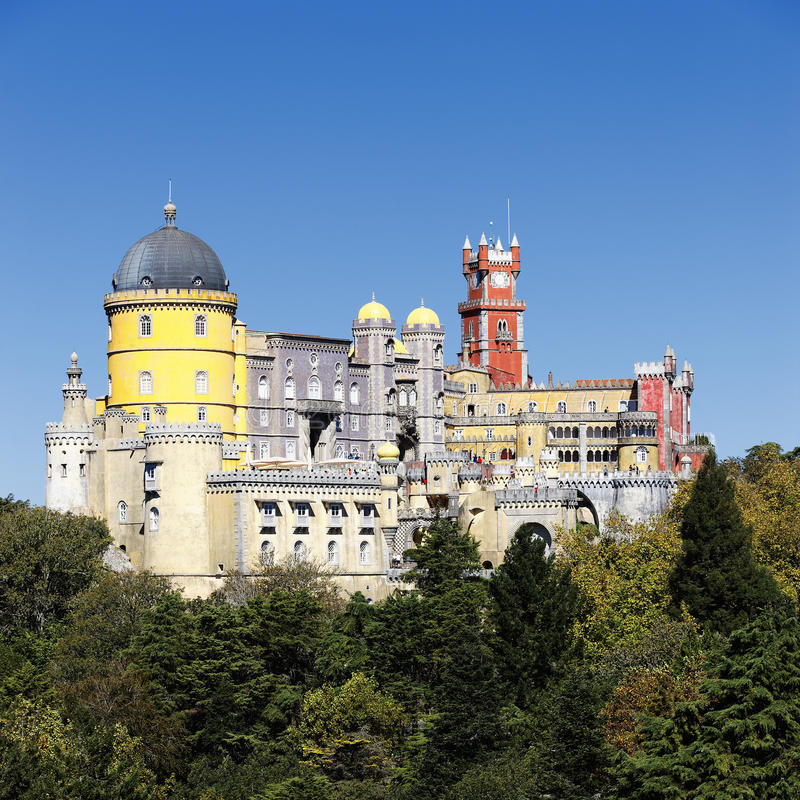 Pena National Palace In Sintra In Summer Stock Photo