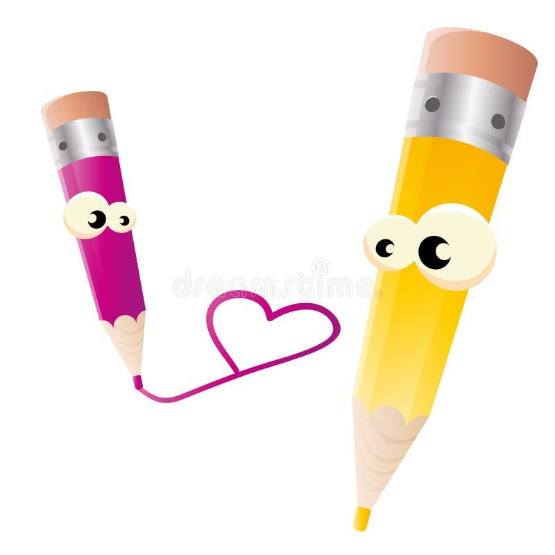 Download Pena no amor ilustração do vetor. Ilustração de objeto - 26896216