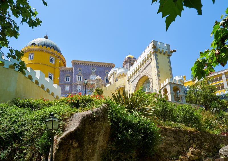 Pena pałac Sintra Portugalia zdjęcia royalty free