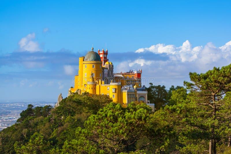 Pena pałac w Sintra, Portugalia - obrazy royalty free