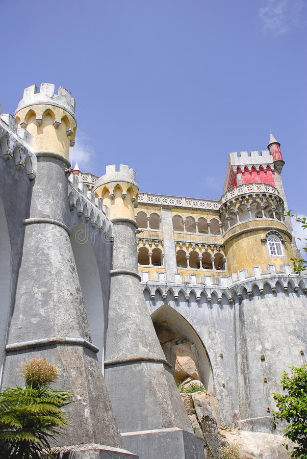 Download Pena palace stock image. Image of pena, blue, portugues - 10378109