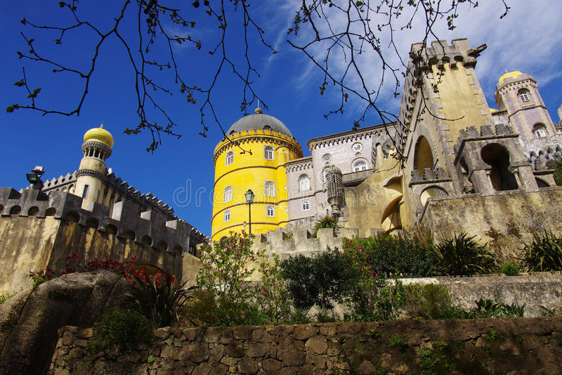 Download Pena Palace stock photo. Image of building, green, rock - 19070796