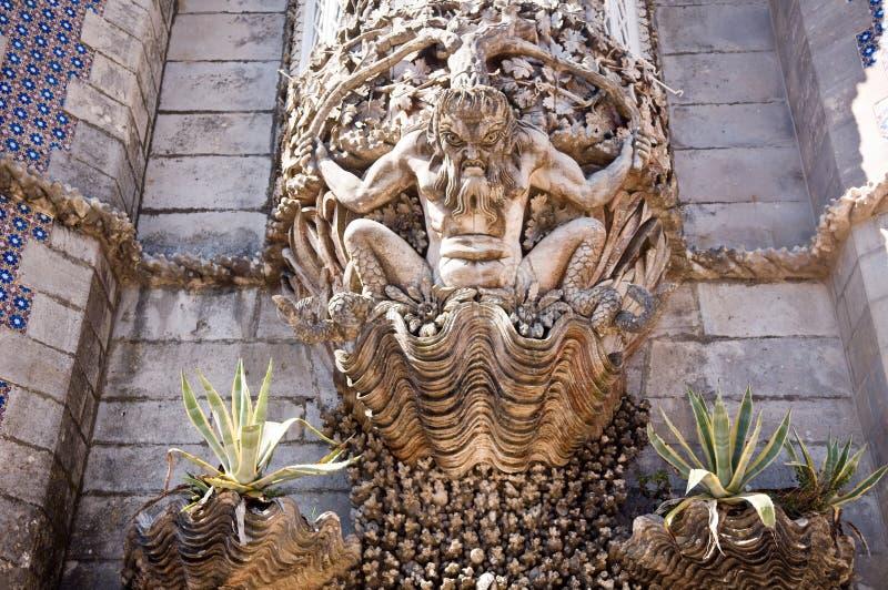 Pena Palace, Lisbon, Portugal stock images