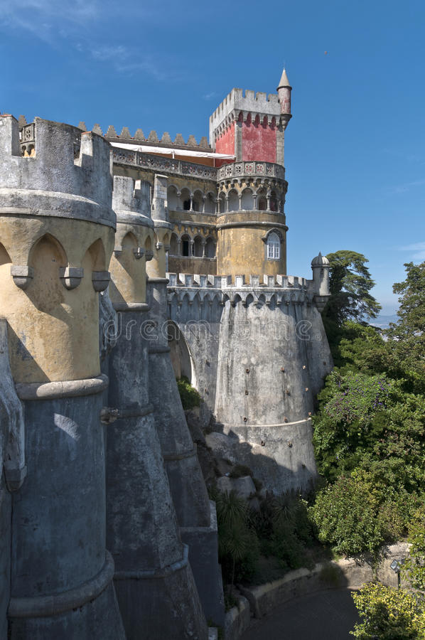 Download Pena palace in sintra stock photo. Image of famous, palace - 20923354