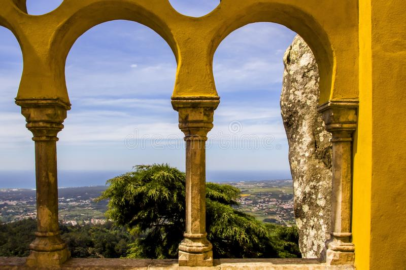 Pena palace, Sintra palace royalty free stock photo