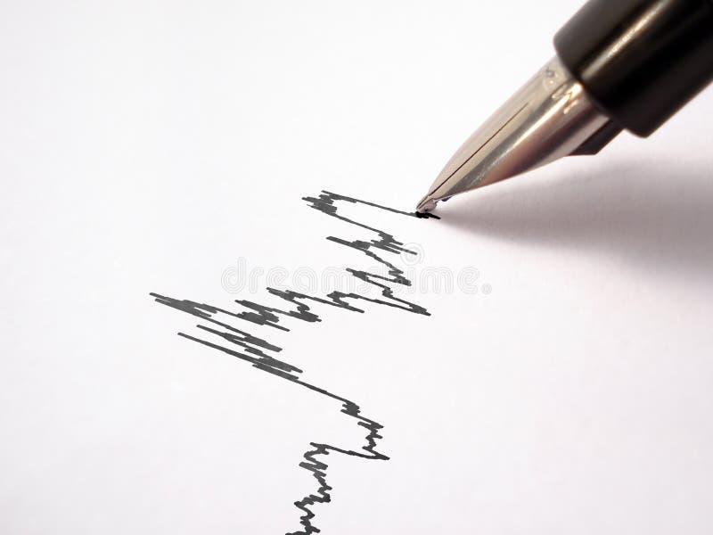 a Pena-pena desenha um gráfico imagem de stock royalty free