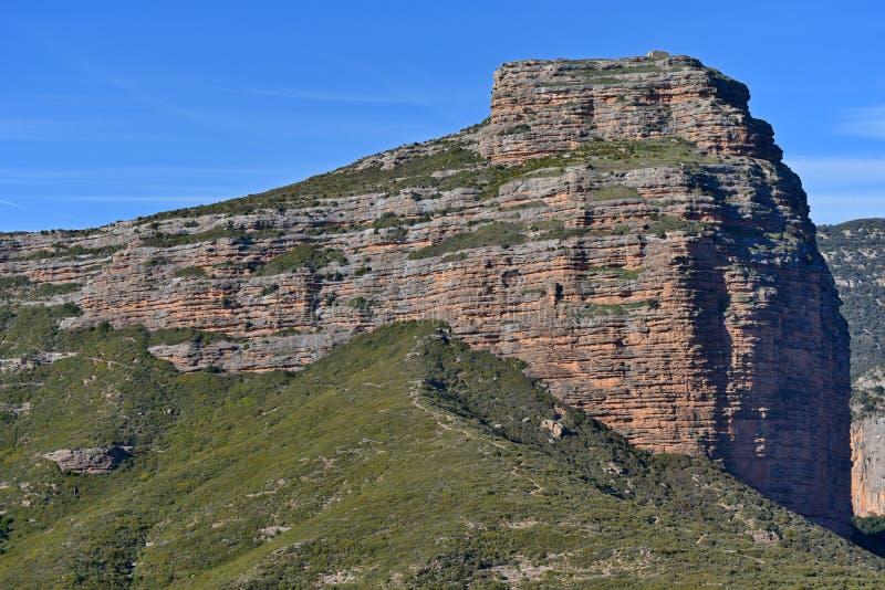 Pena San Miguel naturalna brama Salto De Roldan w Aragon obraz stock