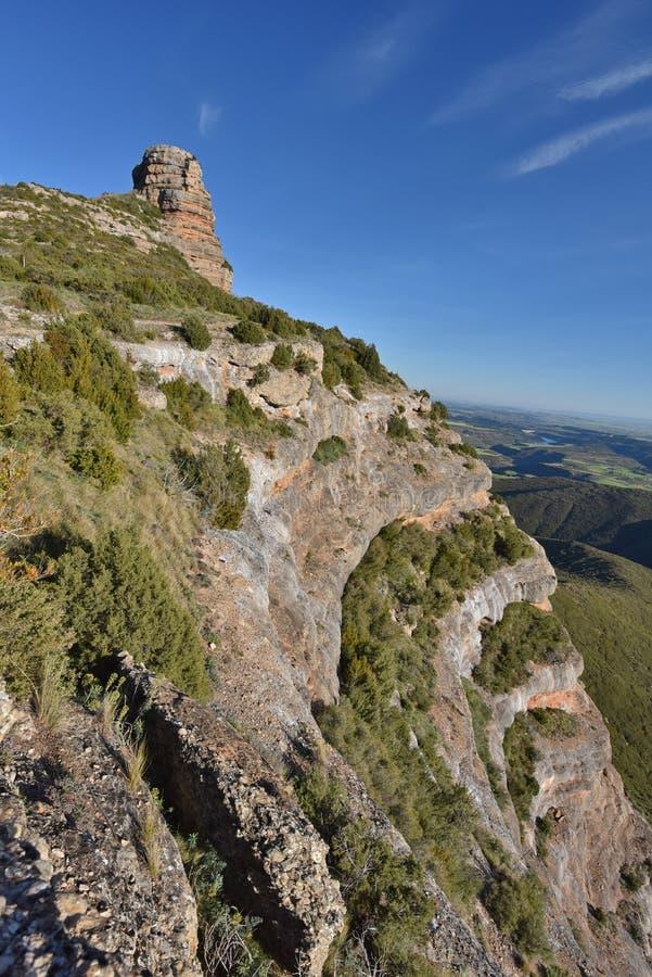 Pena San Miguel naturalna brama Salto De Roldan w Aragon fotografia royalty free