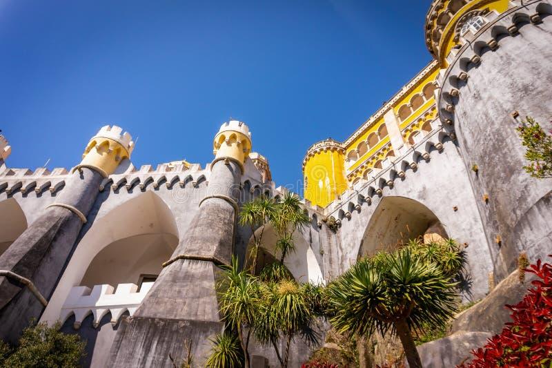 Pena slott - Romanticistslott i Sintra, Portugal arkivfoto