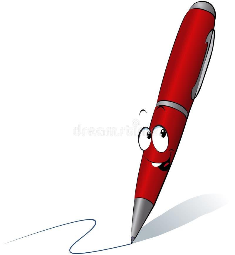 Pena vermelha engraçada ilustração stock