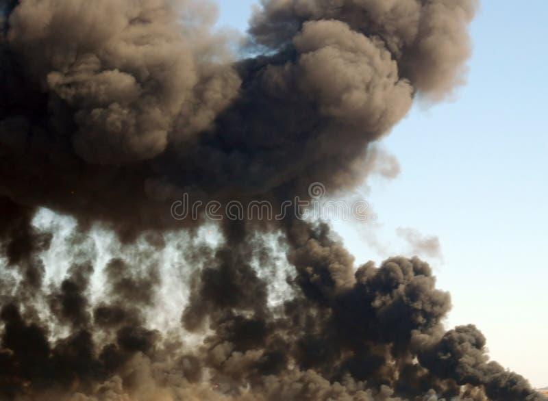 Penacho del humo imagenes de archivo