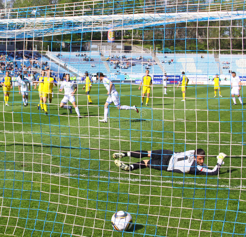 Penalidade do futebol fotografia de stock royalty free