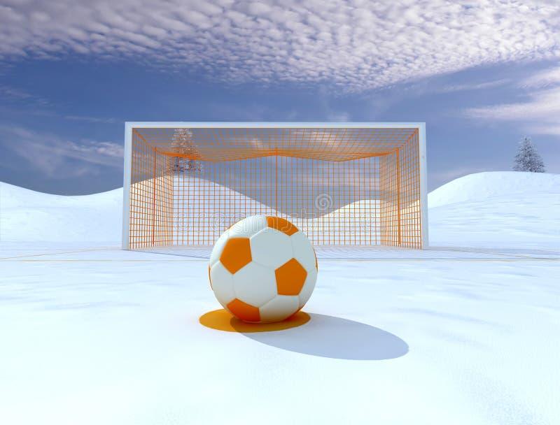 Penalidade do inverno ilustração stock
