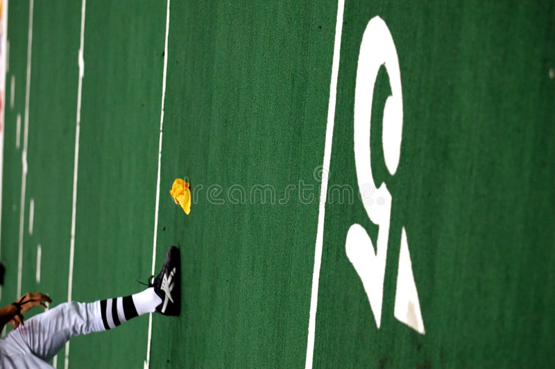Penalty on 5 yard line stock photo