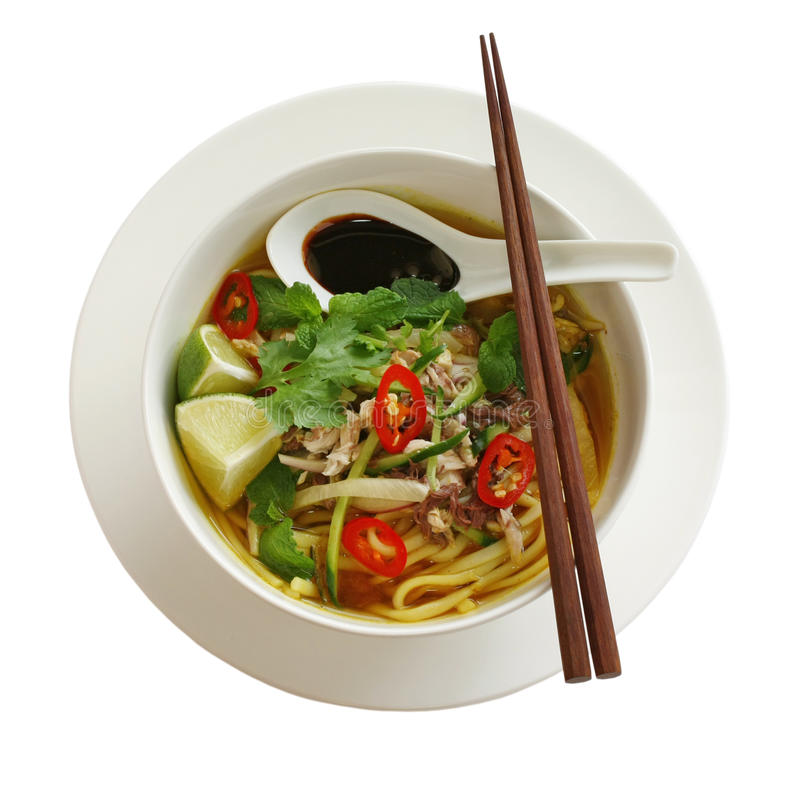 Free Penang Assam Laksa, Malaysian Food Stock Photos - 22099223