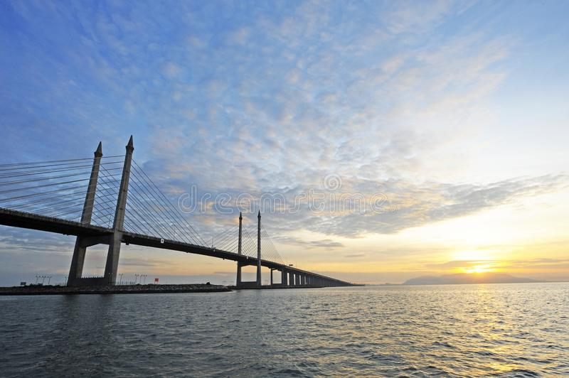 PENANG BRIDGE. DescriptionThe Penang Bridge is a 13.5-kilometre dual carriageway toll bridge and controlled-access highway in the state of Penang, Malaysia. The royalty free stock images