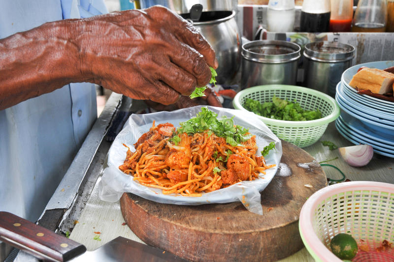 Penang Famous Mamak's Fried Mee. Among the famous hawkers food available in Penang, Malaysia. For Asian Food lovers should put this menu in must eat list royalty free stock photos