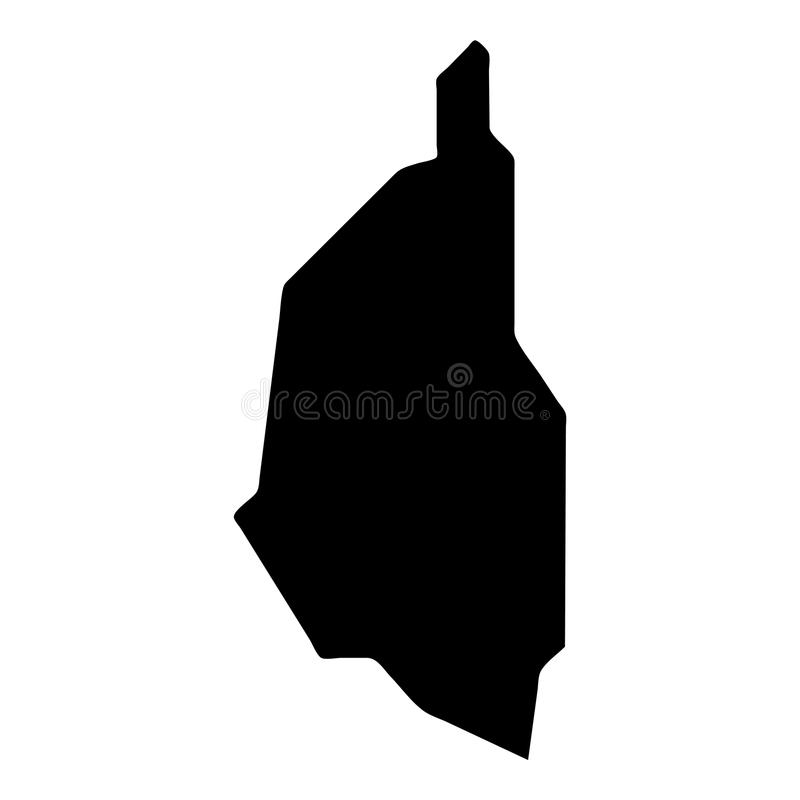 Penang Island map. Island silhouette icon. Isolated Penang Island black map outline. Vector illustration vector illustration