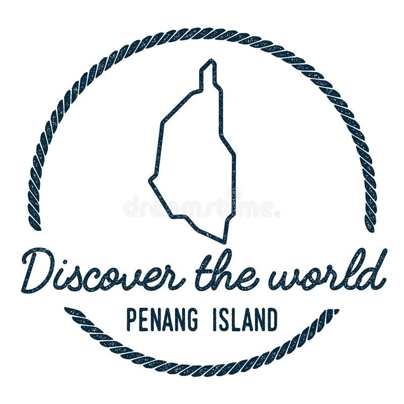 Penang Island Map Outline. Vintage Discover the. Penang Island Map Outline. Vintage Discover the World Rubber Stamp with Island Map. Hipster Style Nautical royalty free illustration