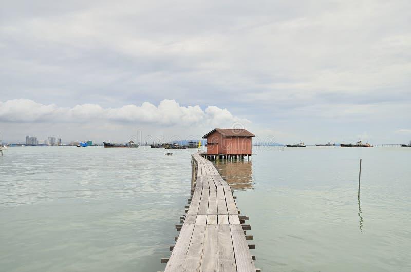 Penang Jetty Georgetown Malezja obrazy royalty free