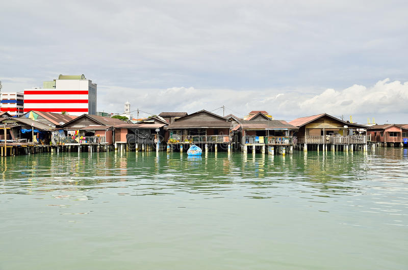 Penang Jetty Georgetown Malezja zdjęcia royalty free