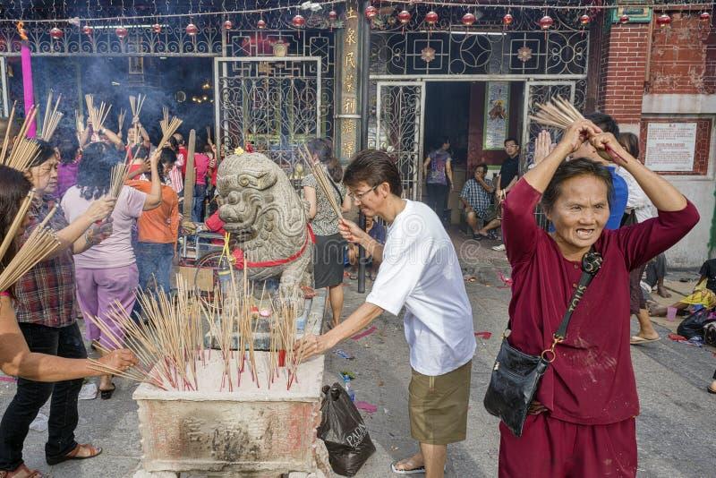 PENANG, MALASIA - 3 de febrero de 2011 nuevo sí chino fotos de archivo libres de regalías