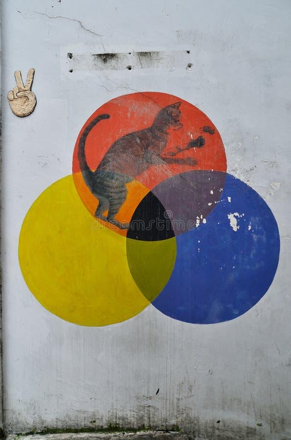 Penang malowidła ścienne Georgetown Malezja fotografia royalty free