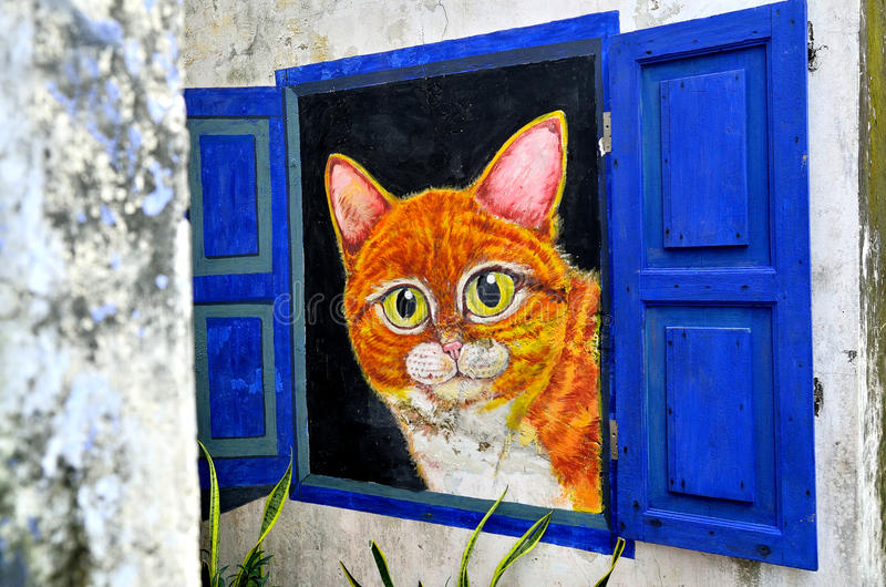 Penang malowidła ścienne Georgetown Malezja obraz stock