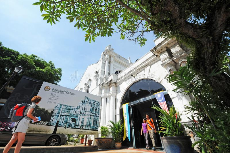 Penang Museum & Art Gallery. Is set on the junction of Lebuh Farquhar and Lebuh Light in Georgetown. Established in 1821, it houses national and state treasures royalty free stock photography