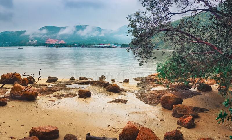 Penang National Park, Malásia Panorama fotografia de stock royalty free