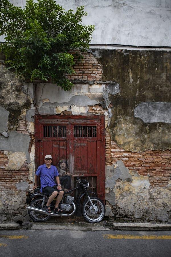 Penang street art royalty free stock photo