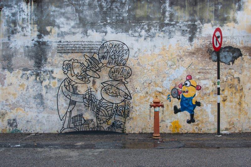 Penang street royalty free illustration