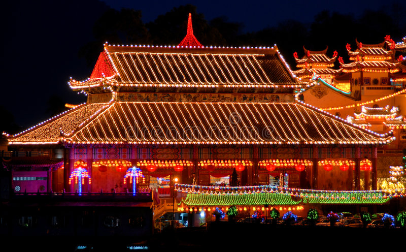 Penang - templo da felicidade suprema (Kek Lok Si) imagens de stock royalty free