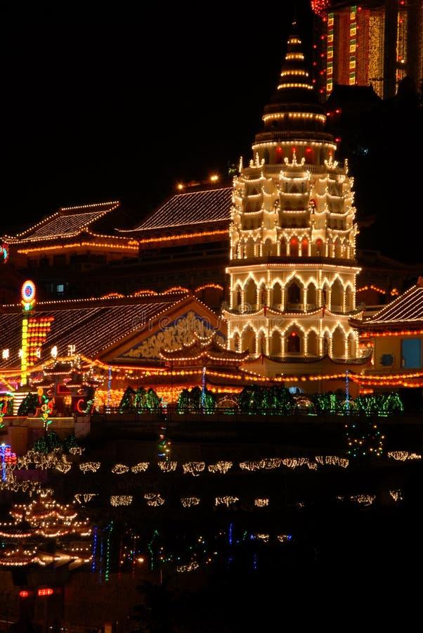 Penang - templo da felicidade suprema (Kek Lok Si) fotografia de stock royalty free