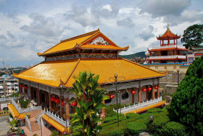 Penang - templo da felicidade suprema (Kek Lok Si) imagem de stock