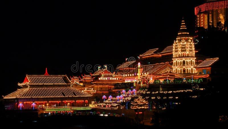 Penang - templo de la dicha suprema (Kek Lok Si) foto de archivo